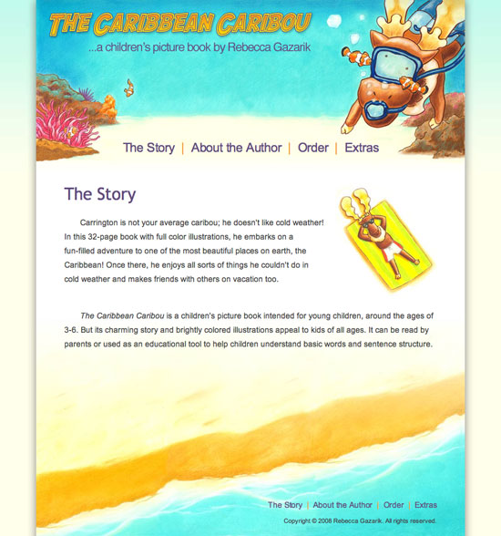 The Caribbean Caribou website design